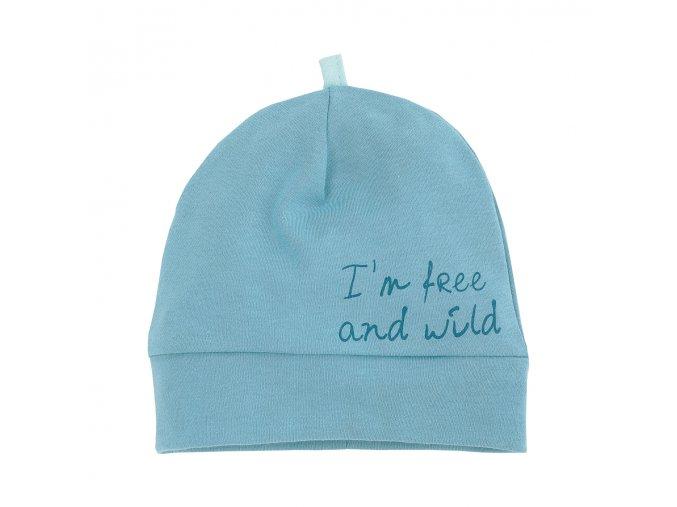 Bavlněná čepice Wild Boy - tyrkysová