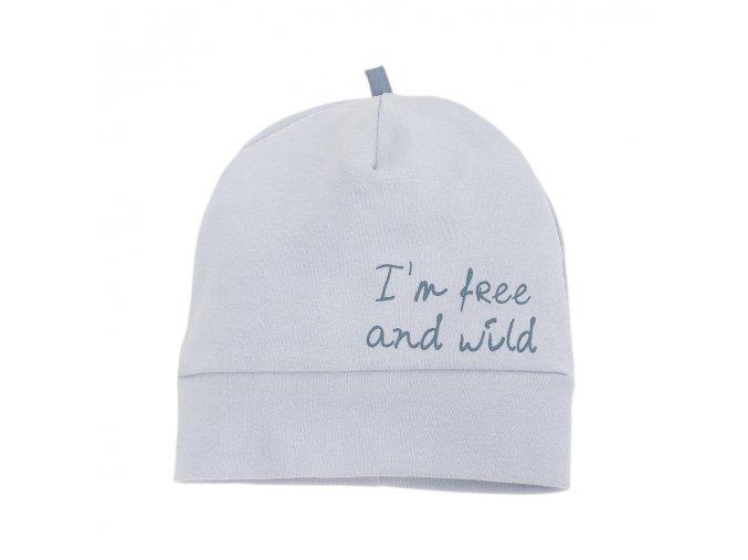 Bavlněná čepice Wild Boy - šedá