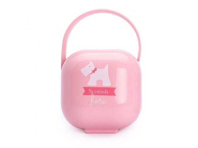 Scottish Krabička na šidítko - růžová