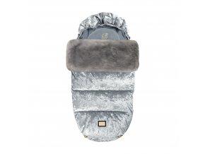 Footmuff Grey velvet AW19