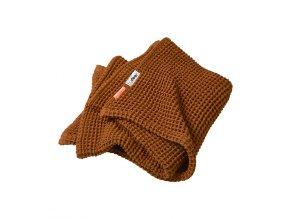 Vaflová deka 80 x 100 cm - hořčicová