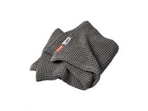 Vaflová deka120 x 150 cm - šedá