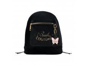Back pack, black velvet