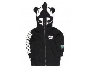 KIDS Panda R Hoodie BLK 01