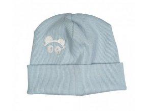 Úpletová čepice Loowfat - modrá
