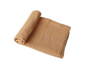 Mushie mušelínové zavinovací plenka z organické bavlny - fall yellow