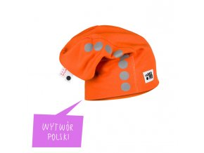 Bavlněná čepice s reflexním potiskem - oranžová