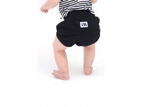 Bavlněné šortky - černé