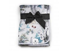 Perleťově sametová deka Elodie Details Forest Flora