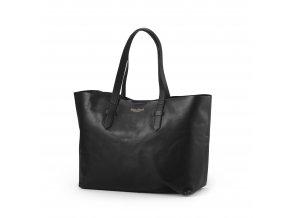 Přebalovací taška Elodie Details z pravé kůže - Black Leather