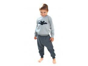 Bavlněná mikina - batman šedá/černá LIMITOVANÁ KOLEKCE
