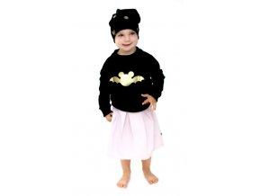 Bavlněná mikina - batman černá/zlatá LIMITOVANÁ KOLEKCE