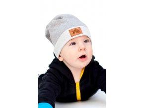 Bavlněná čepice - šedá - limitovaná