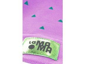 Bavlněná čepice - fialová s potiskem - limitovaná