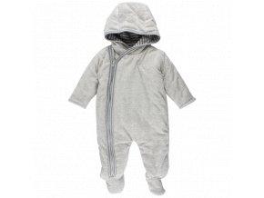 Fixoni Zateplený kojenecký overal - šedý