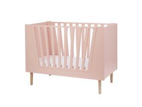 Dětská postýlka 120x60 cm - růžová