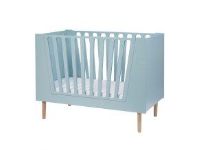 Dětská postýlka 120x60 cm - modrá