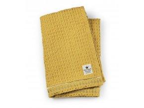 Organic Waffle Blanket Sweet honey