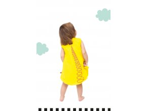 Nube tunika bez rukávů s potiskem - žlutá