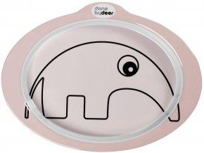 Protiskluzový talíř s úchyty Contour - růžový