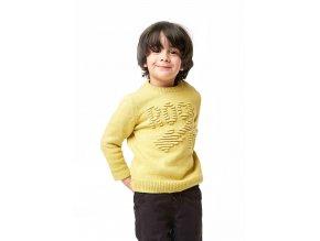 Žlutý melírovaný pletený svetr