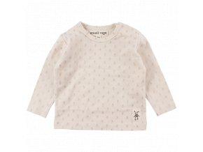 Bavlněné triko Fly Small rags - ecru
