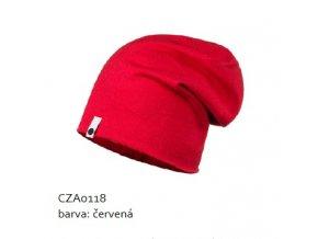 Bavlněná čepice - červená