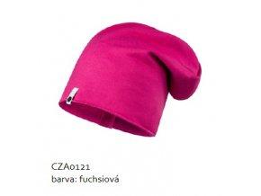 Bavlněná čepice - fuchsiová