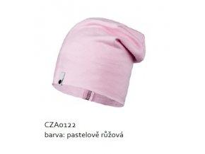 Bavlněná čepice - pastelově růžová