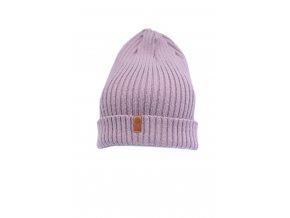 Zimní pletená čepice Granha - lila