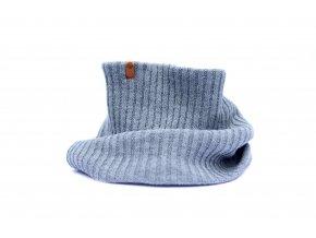 Zimní pletený šál Granha - tmavě šedý