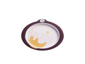 Protiskluzový talíř s úchyty Contour - tmavě růžová