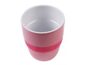 Hrníček Elphee Yummy mug se silikonovým kroužkem - malinový