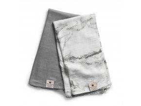Deka z bambusového mušelínu Elodie Details - Marble Grey