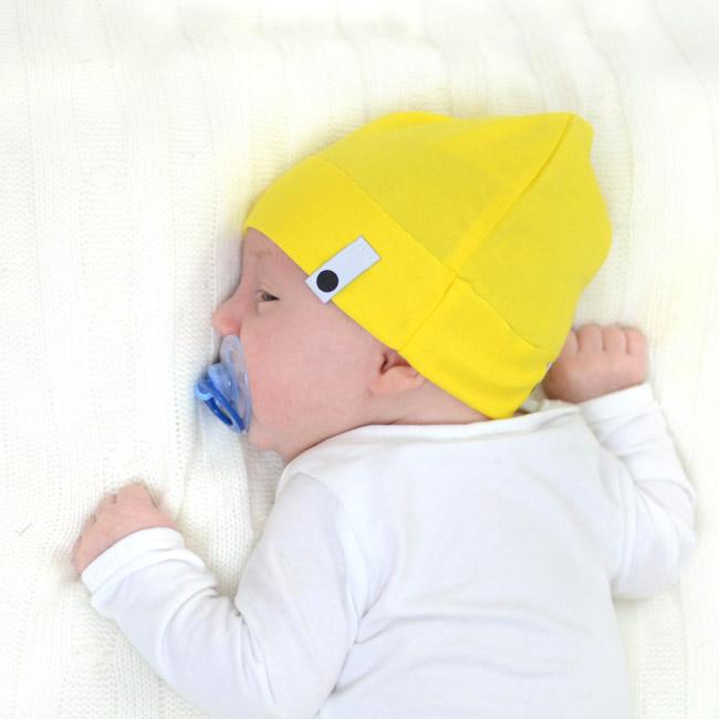 Bavlněná čepice Newborn - žlutá