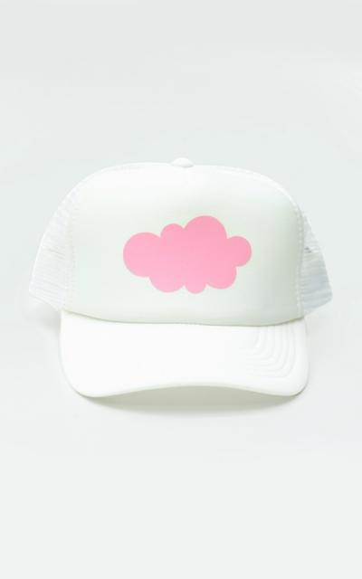 Dětská kšiltovka bílá - růžový mráček