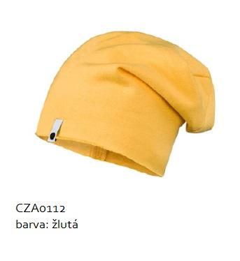 Bavlněná čepice - žlutá Velikost: 40/42