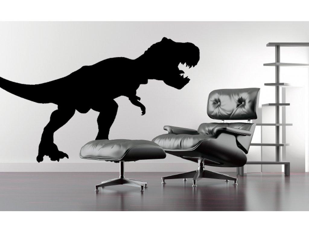 Tyranosaurus - Samolepka na zeď | SAMOLEPKYnaZED.cz (barva černá)