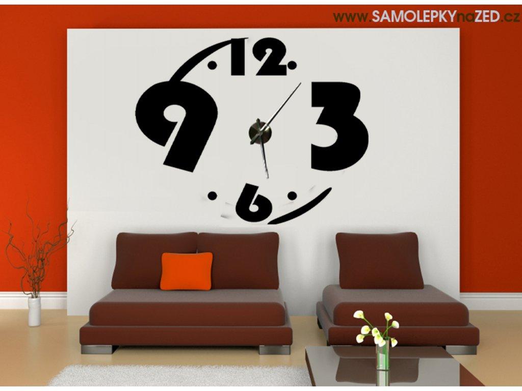 Design 69 se strojkem | hodiny od SAMOLEPKYnaZED.cz (barva černá)