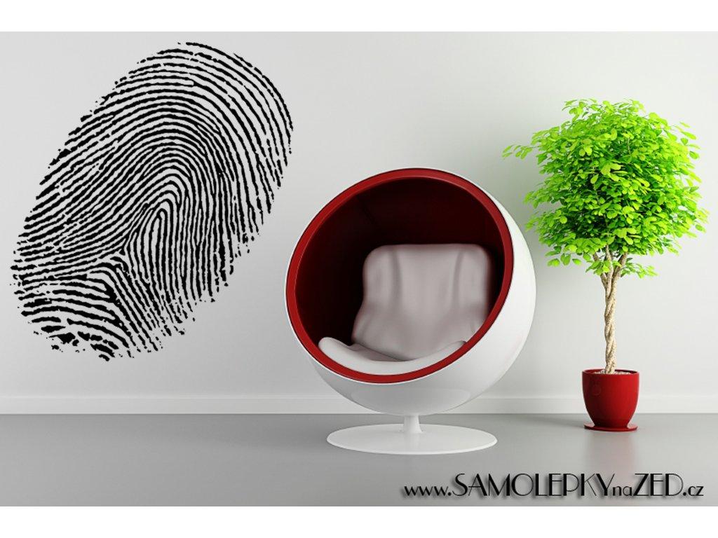 Otisk prstu - samolepka na zeď od výrobce   SAMOLEPKYnaZED.cz (barva černá)