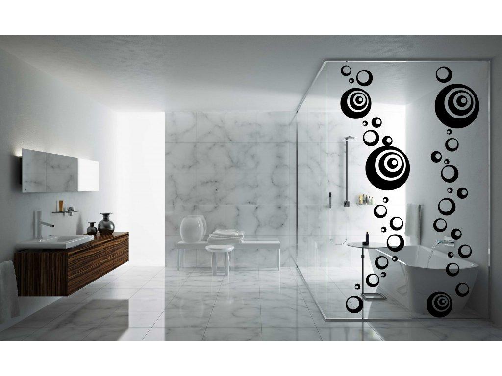 Bubliny na zeď Aqua dekorace na stěnu (barva černá)