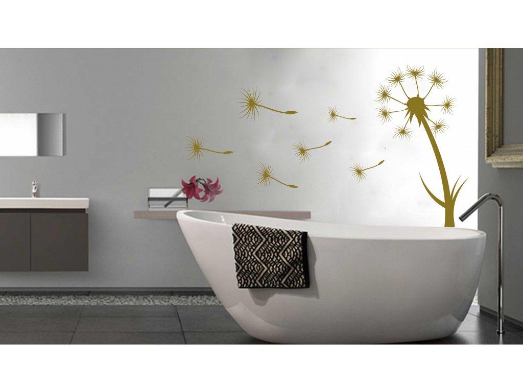 PAMPELIŠKA - samolepka na zeď, úžasná dekorace | SAMOLEPKYnaZED.cz (barva zlatá lesklá)