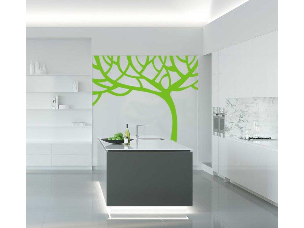 Strom Abstract - Samolepka do kuchyně (limetková)