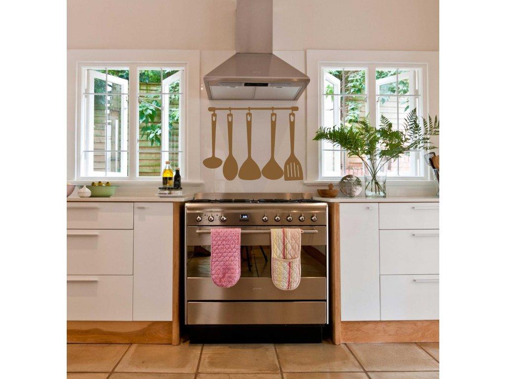 Kuchyňské náčiní - Samolepka do kuchyně (měděná lesklá)
