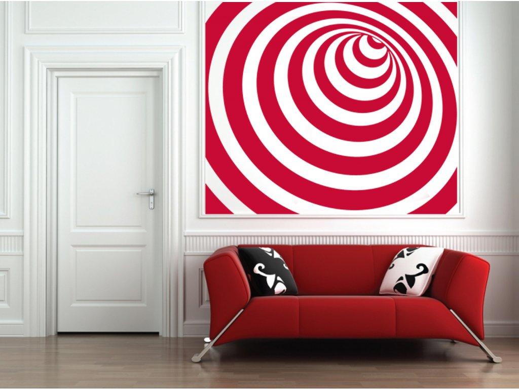 Infinity - samolepka na zeď | SAMOLEPKYnaZED.cz (barva červená)