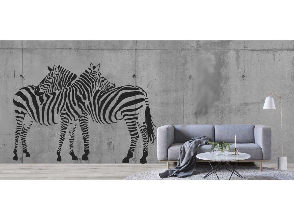 Zebry v páru (černá)
