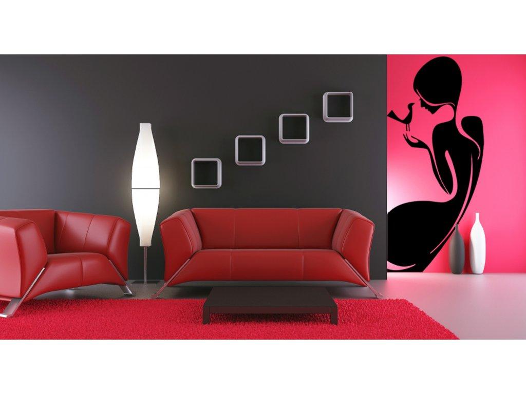 Posa in žena - Samolepky na zeď - dekorace | SAMOLEPKYnaZED.cz (barva černá)