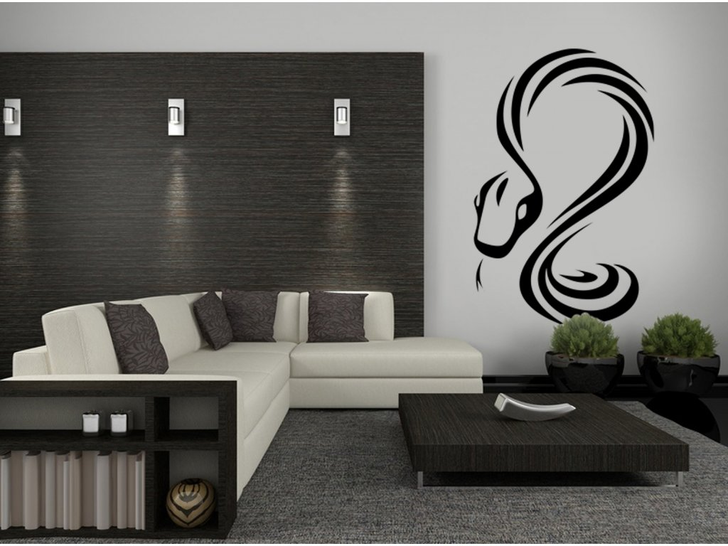 Had - samolepící dekorace na zeď   SAMOLEPKYnaZED.cz (barva černá)