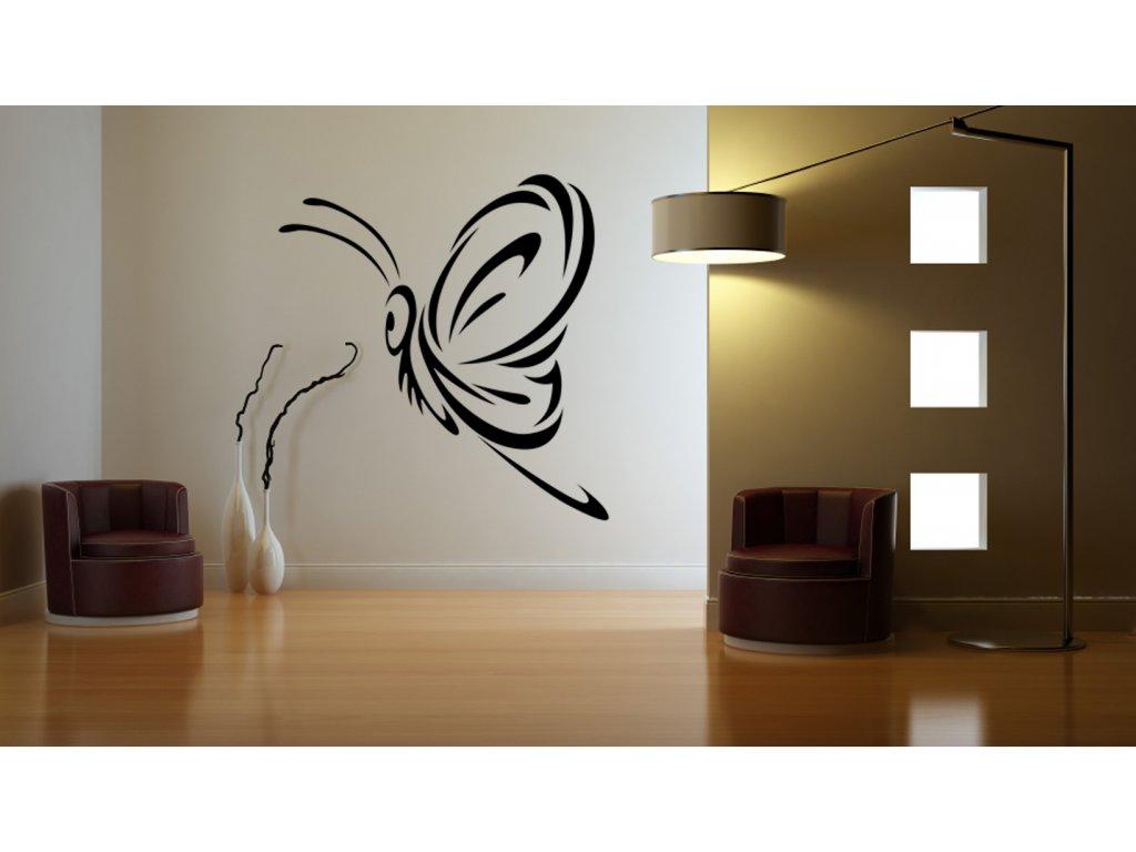 Skvělý dárek pro milovníky motýlů - motýl design | SAMOLEPKYnaZEĎ.cz (barva černá)
