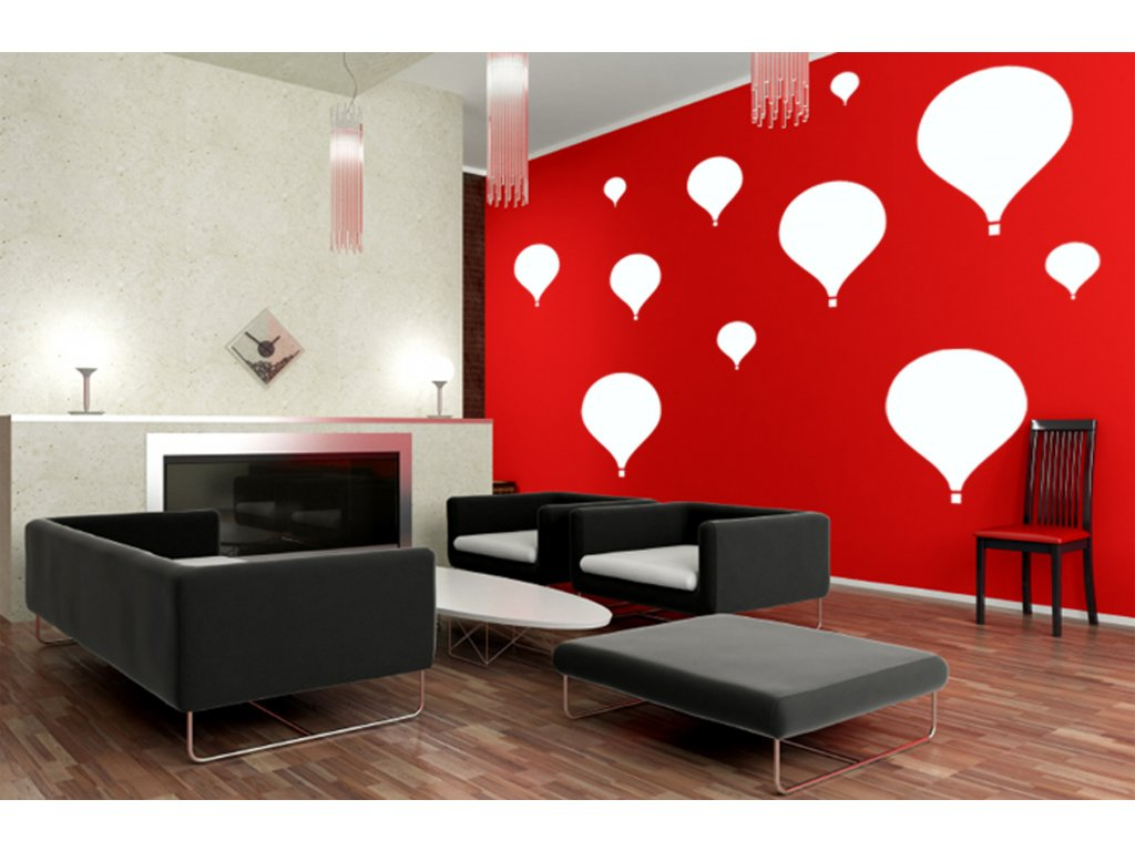 Skvělý dárek pro milovníky letání - Balóny na zeď (bílá)
